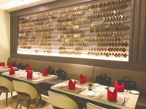The new interior of the Big Apple Restaurant.