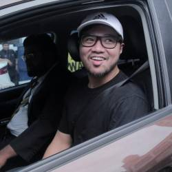 Sacked PKR Santubong Youth Cheif Haziq Abdullah Abdul Aziz who claims to be one of the 2 persons in the sex scandal video is being released from the Dang Wangi Police HQ, Kuala Lumpur. July 23, 2019.