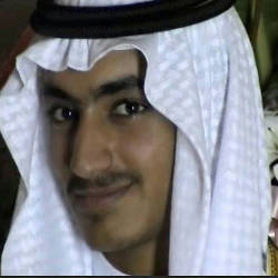 An undated file video grab released by the Central Intelligence Agency (CIA) on Nov 1, 2017 and taken by researchers from the Federation for Defense of Democracies' Long War Journal, shows an image of Hamza Bin Laden. — AFP