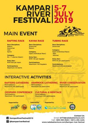 Sungai Kampar Festival 2019 from July 5 to 7