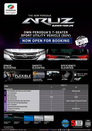 Perodua Aruz open for booking, from RM72,200*
