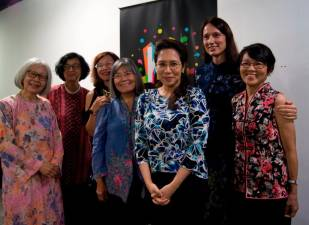 Jasmina (second from right) with some of the winners of the 2019 Jasmina Awards. – JASMINA AWARDS