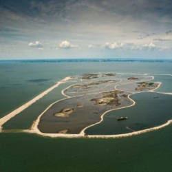 The vast expanse of Markermeer lake was until recently nothing more than a cloudy mass devoid of aquatic life. — AFP
