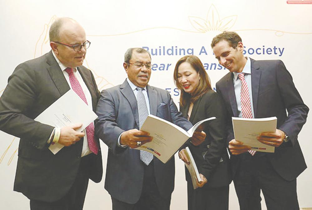 From left: Stoel, BAT chairman Tan Sri Aseh Che Mat, legal & external affairs director Linda Song and finance director Ricardo Martin Guardo at the media briefing yesterday. – MASRY CHE ANI/THESUN