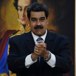 Venezuelan President Nicolas Maduro, pictured in June 2019, confirmed talks between senior officials from his country and the United States. — AFP