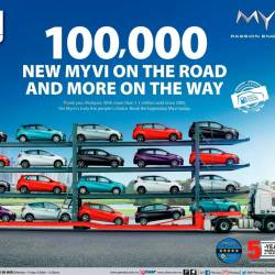 Over 100,000 3rd-gen Myvis on the road now