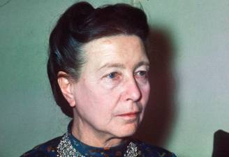 (FILES) In this file photo taken on June 1970 French writer Simone de Beauvoir looks on in Paris. / AFP / STF