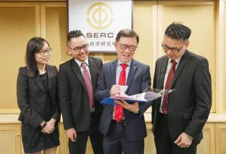 From left: SERC researchers Look Yuen Kei and Goh Kong Jun, Lee and senior researcher Lee Soon Thye at the media briefing yesterday. – ASHRAF SHAMSUL/THE SUN