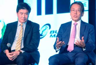 Chua (left) and Ho speaking at Invest Malaysia 2019 yesterday.
