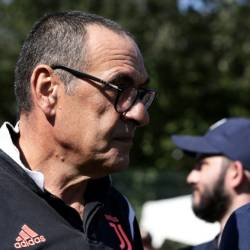 Maurizio Sarri missed Juventus's first two matches because of pneumonia. — AFP