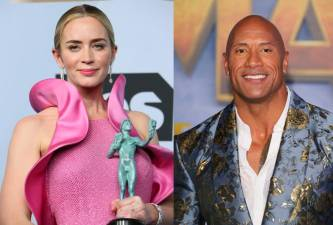 Emily Blunt and Dwayne Johnson to play superheroes in 'Ball and Chain' 1