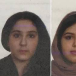 Picture shows Tala Farea (R), 16, and Rotana Farea (L), 22, handout from NYPD. — AFP