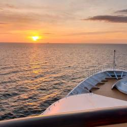 Sunrise aboard the SuperStar Gemini