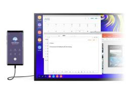 Samsung Dex transforms the portable Samsung GalaxyNote 9 into a practical and minimalist desktop.