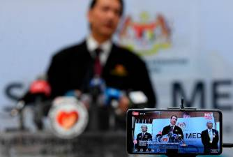 Health director-general Datuk Dr Noor Hisham Abdullah during today's press conference on Covid-19 developments. - Bernama