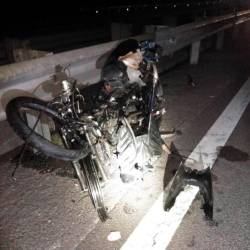The condition of the victim's motorbike after the crash, on July 21, 2019.