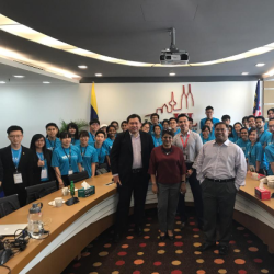 Koh (front, far left) at a workshop organised by InvestKL for visiting students from University Malaya Business Club's Malaysian Business Student Summit in January this year.
