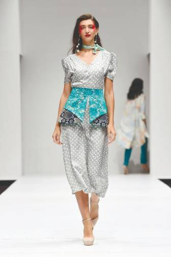 Ellie's Spring Summer 2020 collection 'Féminin en Imprimés' showcased at Kuala Lumpur Fashion Week 2019.