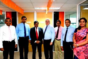 Dr Kingsley Bernard (second from right) with his colleagues at the Sri Lanka Institute of Information Technology.