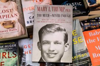 In this file photo illustration taken on July 13, 2020, Mary Trump's new book about U.S. President Donald Trump is on display at a book store on July 14, 2020 in the Brooklyn borough in New York City. A new book on Donald Trump written by his niece sold nearly a million copies on the first day it went on sale in the United States, its publisher said July 16, 2020. / AFP / GETTY IMAGES NORTH AMERICA / STEPHANIE KEITH