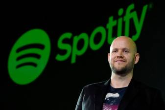 Spotify founder Ek says his bid for Arsenal was rejected