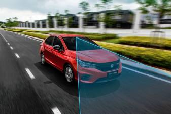 The all-new City RS i-MMD comes with enhanced Honda Sensing, the most complete advanced safety features in its segment.