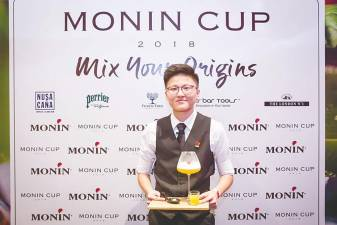 Soon used bambangan and tuak, two ingredients native to Sabah and Sarawak to craft the 2018 Monin Student Cup winning drink, Bayu Kenyalang.