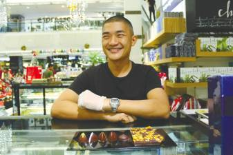 Ong Ning-Geng with his chocolate creations. – Courtesy of Ong Ning-Geng