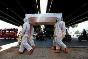 Shock coffin tactics in Indonesia