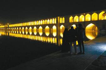 "The ""Si-o-Se Pol"" bridge (33 Arches bridge) over the Zayandeh Rud river in Isfahan is a cultural site that is a potential target. US Secretary of State Mike Pompeo insisted on Sunday that any US military action against Iran would conform to international law after President Donald Trump was accused of threatening a war crime by declaring cultural sites as potential targets. – AFPpix"