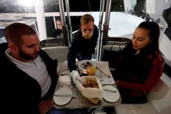 Hungarian restaurant's creative social distancing