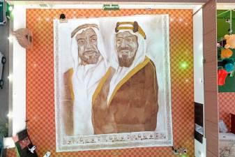 Saudi woman creates largest coffee painting