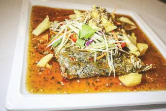 Deep Fried Whole Fish with Thai Tangy sauce. – ADIB RAWI/THESUN