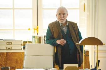 Cox plays Logan, the patriarch of the Roy family, in the drama series, Succession. -HBO