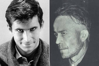 (L) Anthony Perkin as Norman Bates in Alfred Hitchcock's iconic Psycho and (R) Ed Gein the man who inspired the character.