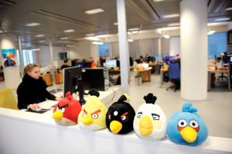 Angry Birds characters at the Rovio company premises in Espoo, Finland on January 21, 2011 © LEHTIKUVA / Martti Kainulainen