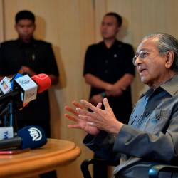 Prime Minister Tun Dr Mahathir Mohamad speaks to the media in Putrajaya on the proposed Kuala Lumpur Summit to be held in December and other topics.
