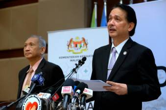 Health director-general Datuk Dr Noor Hisham Abdullah speaks during today's press conference on Covid-19 at the Health Ministry. - Bernama