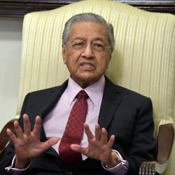 Prime Minister Tun Dr Mahathir Mohamad speaks during a joint press conference after his three-day working visit to Pakistan, on March 24, 2019. — Bernama