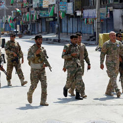 Afghan security forces arrive at the side of a blast in Jalalabad, Afghanistan August 19, 2019. - Reuters