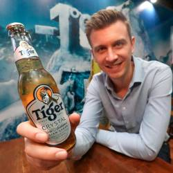Chabot speaking about the new Tiger Crystal at The Tavern, Heineken Malaysia. – MASRY CHE ANI/THESUN