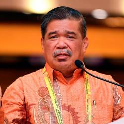 Amanah president Mohamad Sabu gives a speech at the Amanah National Convention 2019 at the Ideal Convention Centre in Shah Alam. - Bernama