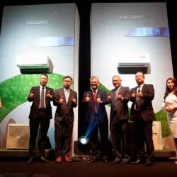 The senior management team of Daikin at the launch event. SUNPIX by NORMAN HIU