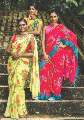 Roovaa Lijuan's summer saree collection for 2019. – Courtesy of Roova Lijuan