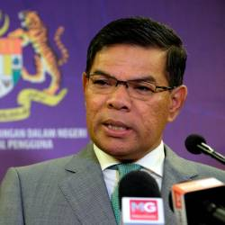 Domestic Trade and Consumer Affairs Minister Datuk Seri Saifuddin Nasution Ismail speaks at a press conference today. - Bernama