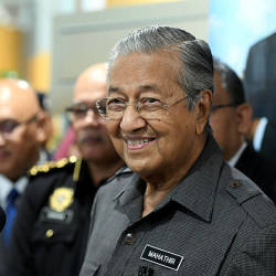 Mahathir during a press conference at the second meeting held this year between the premier and government officers. — Bernama