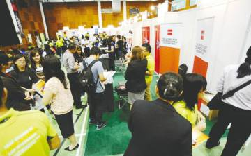Visitors to a job fair. – BERNAMAPIX