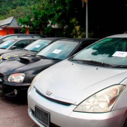Among the cars on auction at the Road Transport Department office in Bukit Katil, Malacca, on July 23, 2019. — Bernama