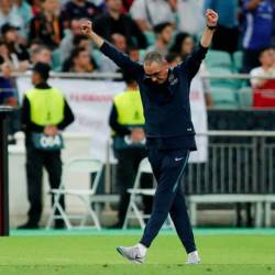 Chelsea manager Maurizio Sarri celebrates after winning the Europa League. - Reuters