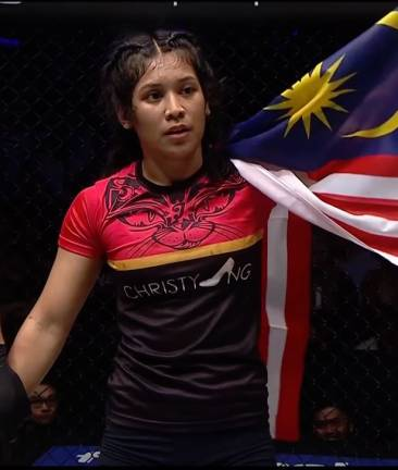 Jihin Radzuan brings the Malaysian flag overseas for the first time